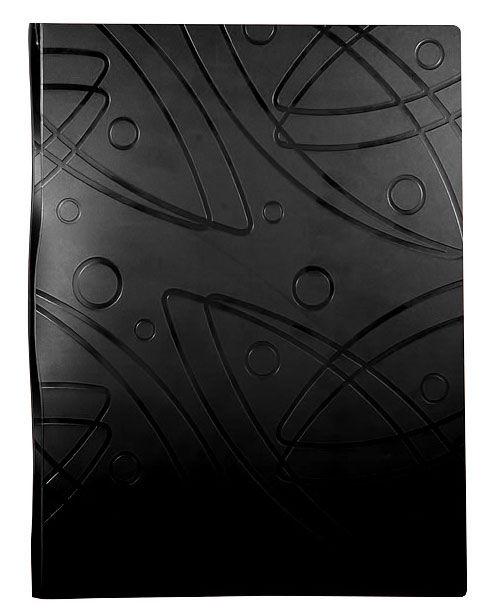 Папка с метал.пруж.скоросш. Бюрократ -GA07PBLCK A4 пластик 0.7мм черный