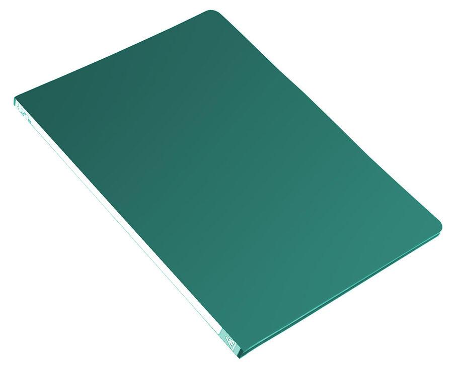 Папка с метал.зажим Бюрократ -PZ05CGREEN A4 пластик 0.5мм торц.наклейка зеленый