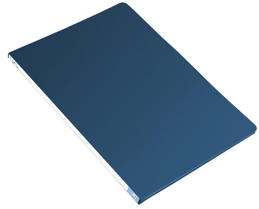 Папка с метал.пруж.скоросш. Бюрократ -PZ05PBLUE A4 пластик 0.5мм торц.наклейка синий