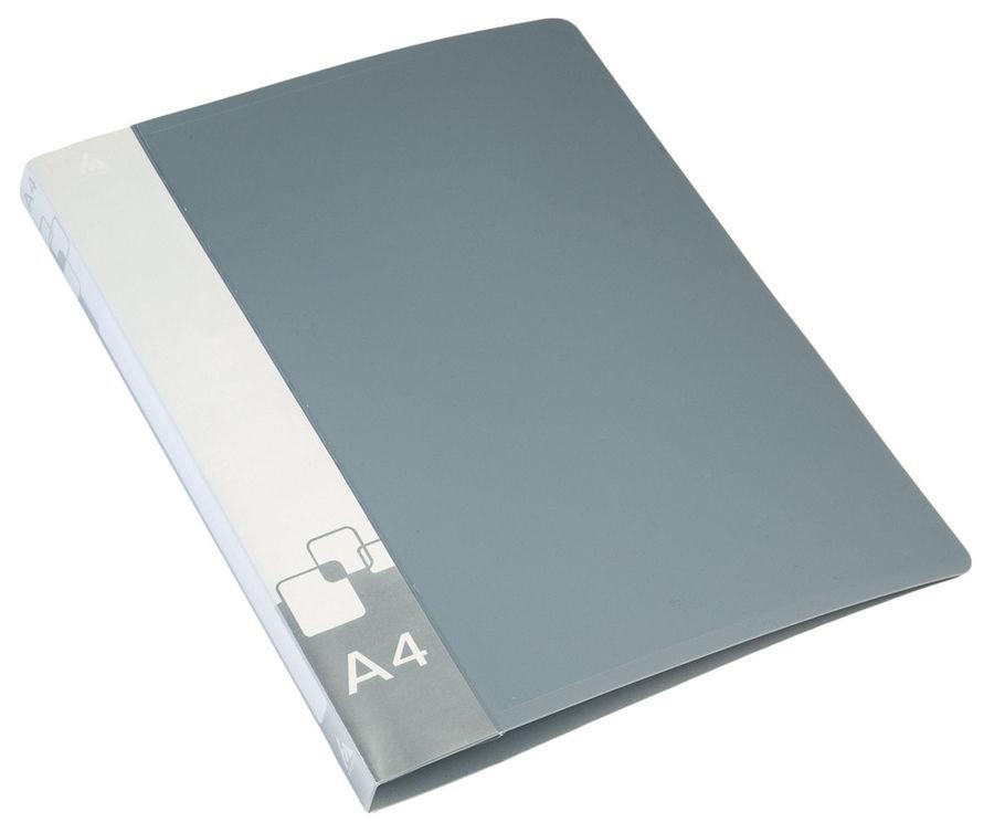 Папка с метал.пруж.скоросш. Бюрократ -PZ07PGREY A4 пластик 0.7мм внут.и торц.карм серый