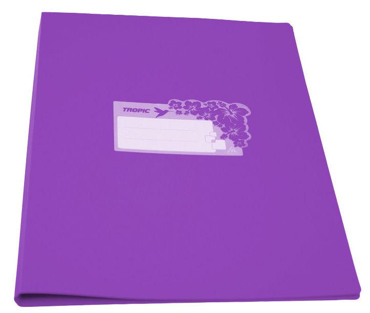 Папка с метал.зажим Бюрократ Tropic -TR07CVIO A4 пластик 0.7мм фиолетовый
