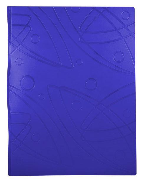 Папка с 20 прозр.вклад. Бюрократ Galaxy -GA20BLUE A4 пластик 0.7мм синий