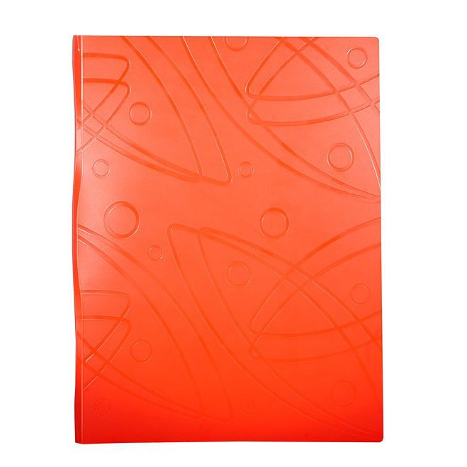 Папка с 20 прозр.вклад. Бюрократ Galaxy -GA20OR A4 пластик 0.7мм оранжевый