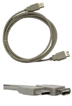Кабель-удлинитель USB BURO USB-AA-3,  USB A(m) -  USB A(f),  круглое,  3м [usbam/f-3m]