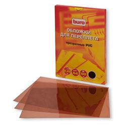 Обложка BURO BU-PVC020br,  A4,  200мкм,  100,  коричневый