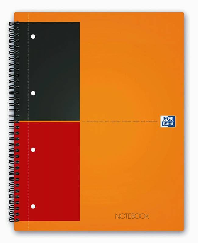 Тетрадь Oxford NOTEBOOK International 100104036 A4+ ламин.картон 80л линейка спираль двойная оранжев