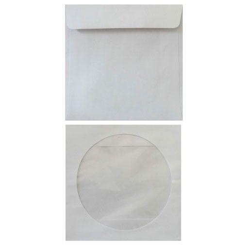 Конверт 201070 CD 125x125мм с окном белый силиконовая лента 80г/м2 (pack:1000pcs)