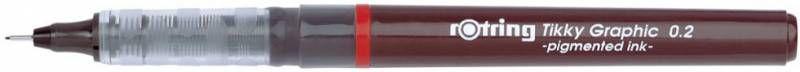 Ручка капиллярная Rotring Tikky Graphic (1904752) 0.2мм черные чернила