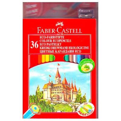 Карандаши цветные Faber-Castell Eco Замок 120136 36цв. точилка карт.кор.
