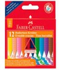 Восковые мелки Faber-Castell 122520 трехгранные 12цв. картон.кор. стирающиеся