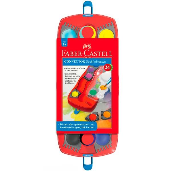 Краски акварельные Faber-Castell Connector 125029 24цв. кисть