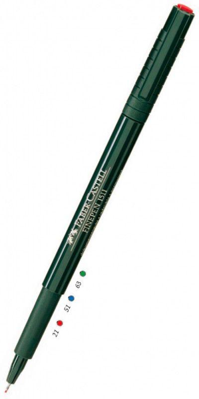 Ручка капиллярная Faber-Castell Finepen (151121) красные чернила