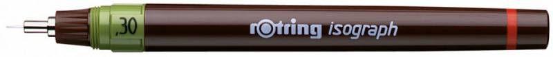 Изограф Rotring 1903399 0.3мм корпус бордовый пластик съемный пишущий узел/заправка тушь