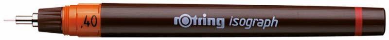 Изограф Rotring 1903491 0.4мм корпус бордовый пластик съемный пишущий узел/заправка тушь