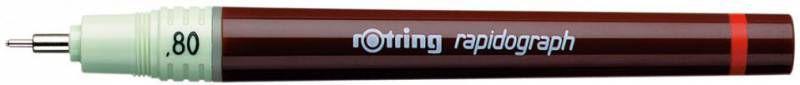 Рапидограф Rotring 1903474 0.8мм съемный пишущий узел/сменный картридж