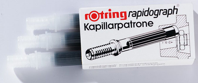 Картридж для рапидографа Rotring S0215710 картр.:красный (упак.:3шт)