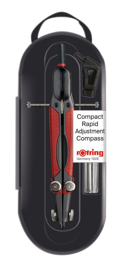 Циркуль Rotring Compact Rapid S0676580 17см регулировочный вал