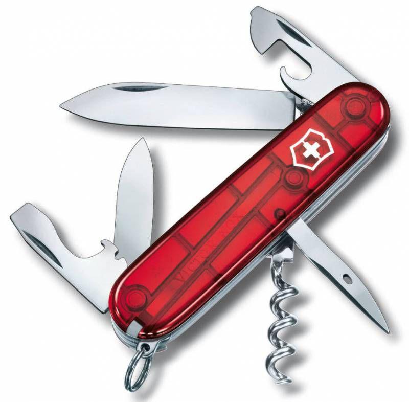 Нож перочинный Victorinox Spartan (1.3603.T) 91мм 12функций красный полупрозрачный карт.коробка