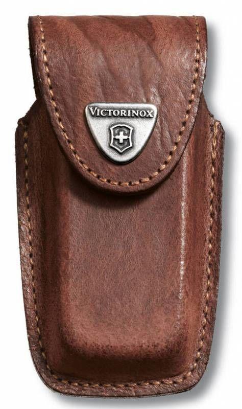 Чехол из нат.кожи Victorinox Leather Belt Pouch (4.0535) коричневый с застежкой на липучке без упако