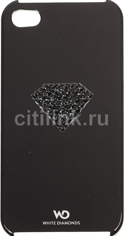 Чехол (клип-кейс) HAMA White Diamonds Rainbow H-108519, для Apple iPhone 4/4S, черный [00108519]