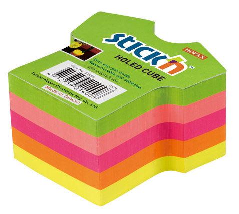 Блок самоклеящийся бумажный Stick`n 21400 70x70мм 400лист. 70г/м2 неон 5цв.в упак. вырубной