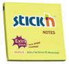 Блок самоклеящийся бумажный Stick`n 21496 76x76мм 90лист. неон желтый усиленный клей вид 1