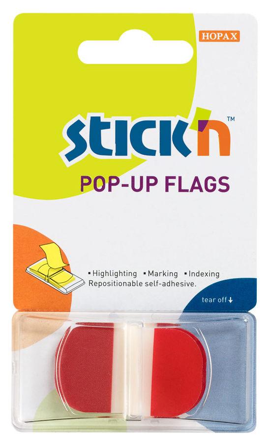Закладки самокл. индексы пластиковые Stick`n 26025 1цв.в упак. 36лист Z-сложение с цветным краем