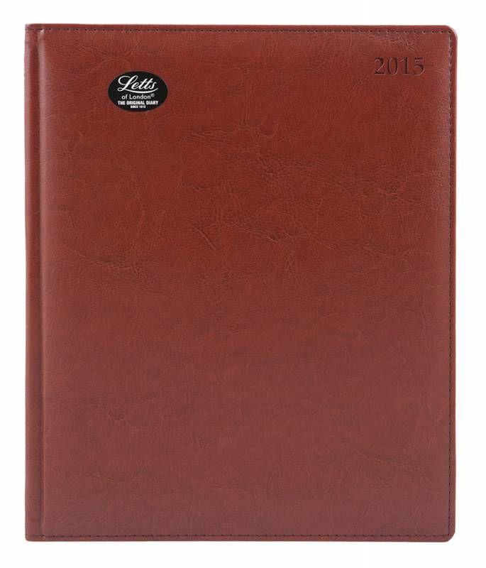 Еженедельник LETTS UMBRIA,  A4,  белые страницы,  кожа искусственная,  коричневый,  1 шт