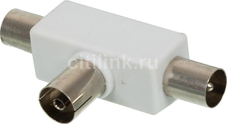 Сплиттер антенный HAMA H-43158,  Coax (f)  -  2xCoax (m) ,  белый [00043158]