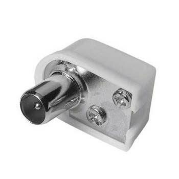 Штекер антенный HAMA H-42847,  Coax (m)  -  белый [00042847]