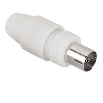 Штекер антенный HAMA H-44147,  Coax (m)  -  белый [00044147]