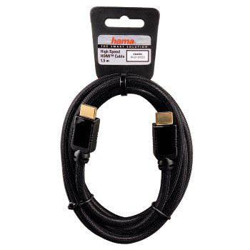 Кабель аудио-видео HAMA H-11914,  HDMI (m)  -  HDMI (m) ,  1.5м, черный [00011914]