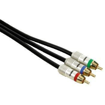 Кабель соединительный аудио-видео HAMA H-79035,  3хRCA (m)  -  3хRCA (m) ,  1.5м, GOLD черный [00079035]