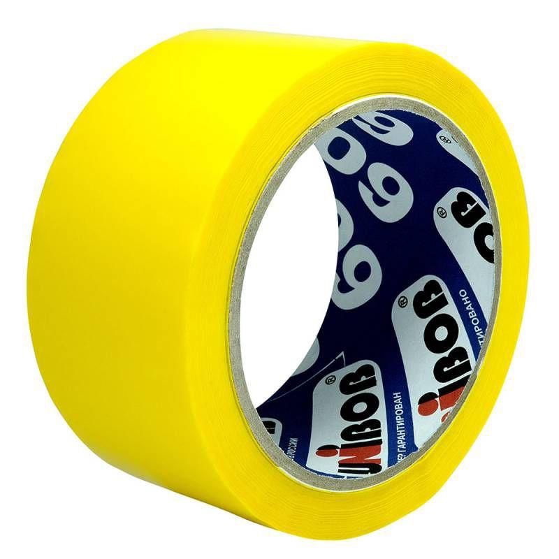 Клейкая лента упаковочная Unibob 600 41153 желтая шир.48мм дл.66м 45мкр