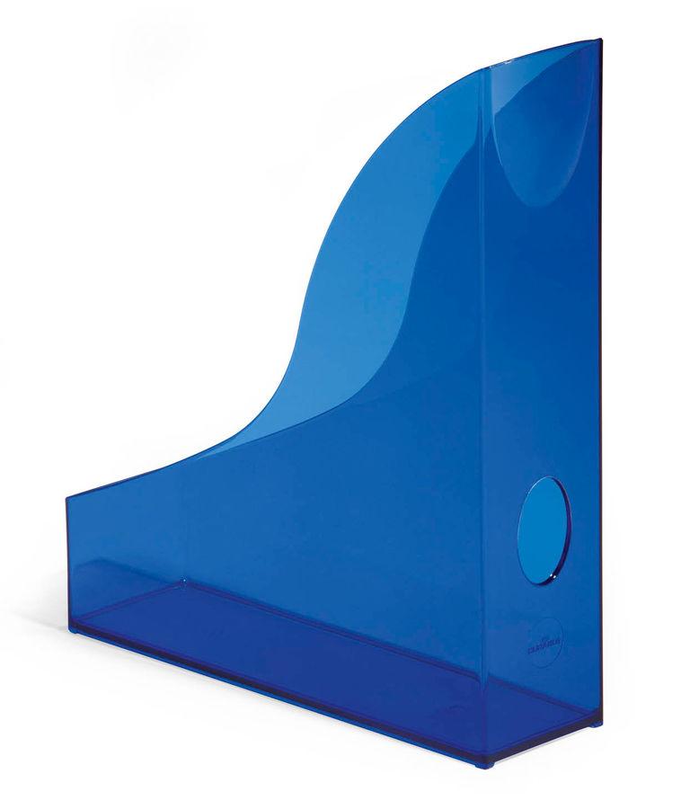 Лоток вертикальный Durable 1701712540 Rack Basic A4 73х306х241мм прозрачный/синий