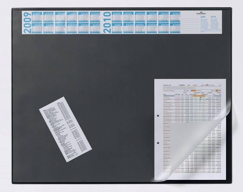 Настольное покрытие Durable (7204-01) 65х52см черный нескользящая основа прозрачный верхний слой