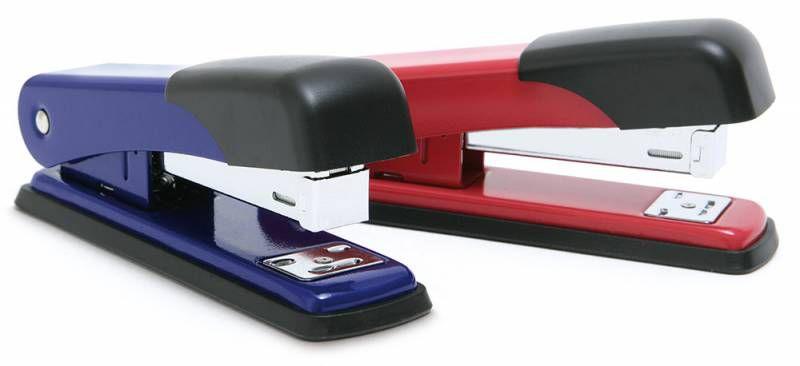 Степлер настольный Rapesco R53500R2 24/6 26/6 (25листов) красный металл/пластик