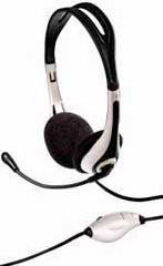 Наушники с микрофоном HAMA HS-250,  накладные, черный  / белый [00051616]
