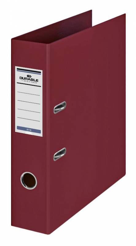 Папка-регистратор Durable 3110-31 A4 70мм ПВХ бордовый