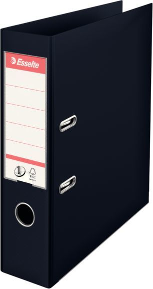 Папка-регистратор Esselte №1 Power 811370P A4 75мм пластик черный