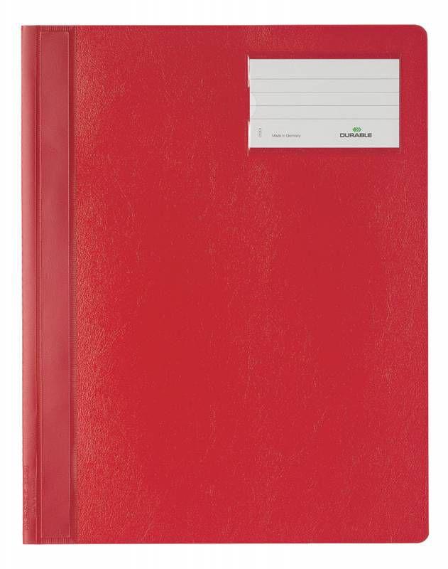 Папка-скоросшиватель Durable 2500-03 A4+ ПВХ красный