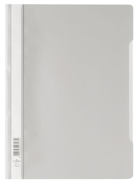 Папка-скоросшиватель Durable 2573-10 A4 прозрач.верх.лист ПВХ серый