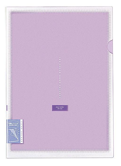 Папка-уголок Kokuyo Coloree FV-TDV750V A4 пластик 0.3мм вставка на 2 карм. фиолетовый