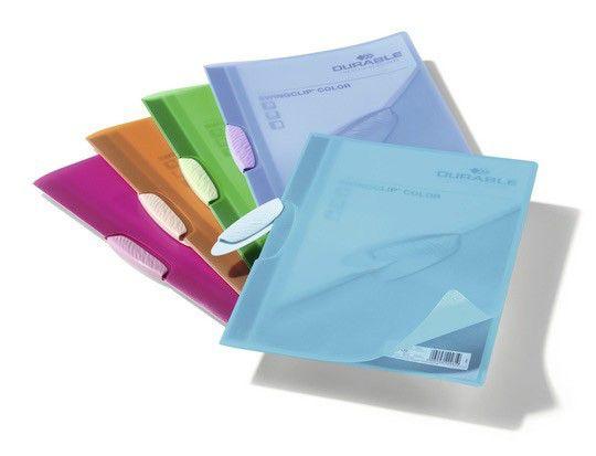 Папка-клип Durable Swingclip Color цветная полупрзрачная с фигурным клипом пурпурный [226635]