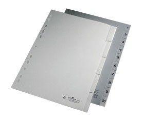 Разделитель индексный Durable 644010 A4 пластик 1-5 с вставными метками