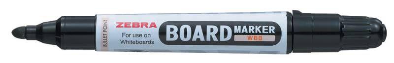 Маркер для досок Zebra BOARD WBB-BK круглый пиш. наконечник (толщина линии 2.3-2.5мм) черный