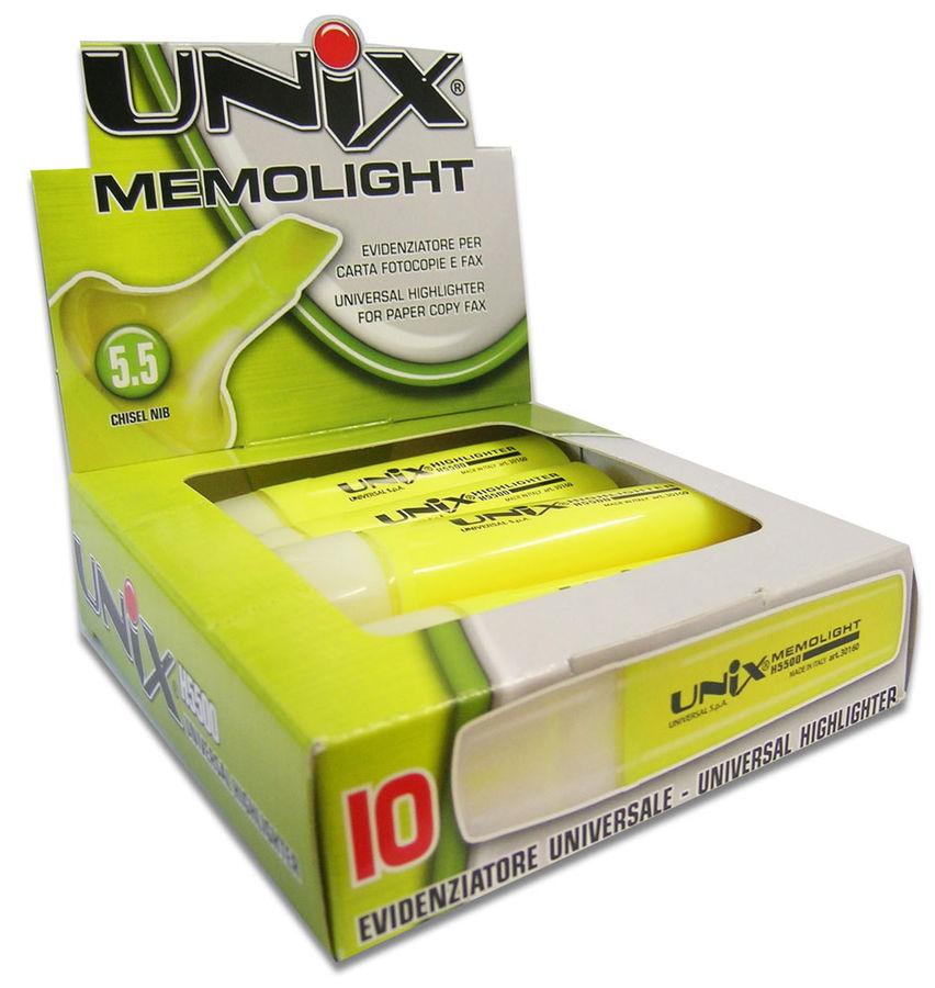 Маркер текстовой Universal UNIX MEMOLIGHT 41683/40 скошенный пиш. наконечник 5.5мм фиолетовый