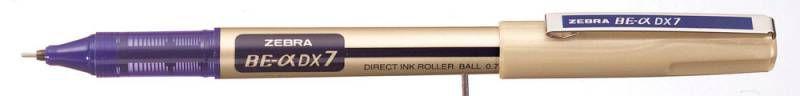 Ручка-роллер Zebra ZEB-ROLLER BE& DX7 (EX-JB5-BL) 0.7мм игловидный пиш. наконечник синий