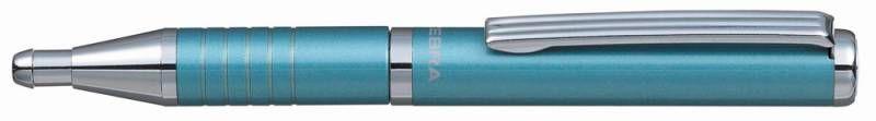 Ручка шариковая Zebra SLIDE (BP115-LB) авт. телескопич.корпус голубой синие чернила коробка подарочн