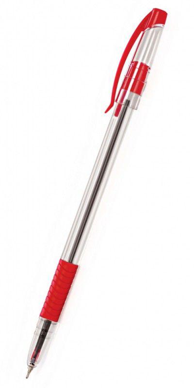 Ручка шариковая Cello SLIMO GRIP 0.7мм игловидный пиш. наконечник красный коробка